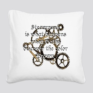 steam_punk_1 Square Canvas Pillow
