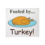 Fueled by Turkey Throw Blanket