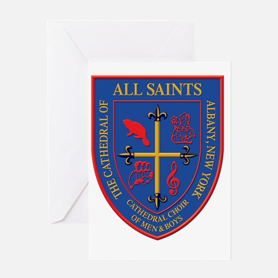 "Choir Crest-3"" CafePress-Trans Greeting Card"