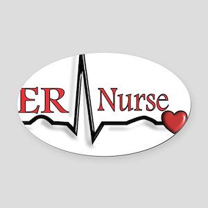 ER Nurse Oval Car Magnet