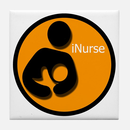 i_Nurse_Orange Tile Coaster