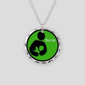 i_Nurse_Green Necklace Circle Charm