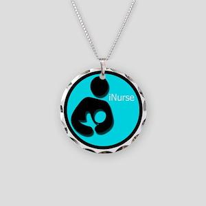 i_Nurse_Turquiose Necklace Circle Charm