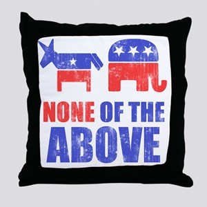 NONEOFTHEABOVE Throw Pillow