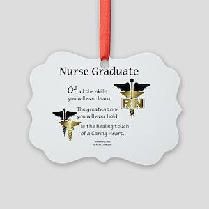 RN-grad-poem-x Picture Ornament