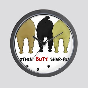 SharPeiButts Wall Clock