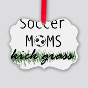 soccermomskickgrass Picture Ornament
