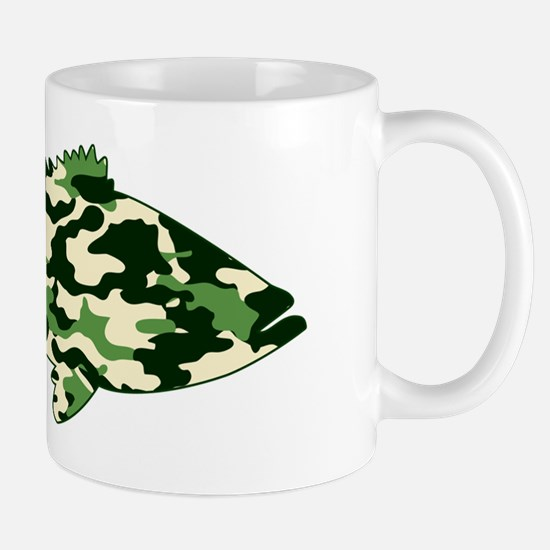 camo bass rectangle Mug
