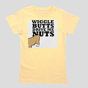 wigglebutts-black Girl's Tee