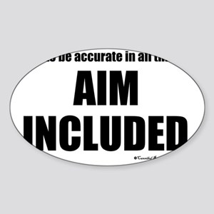 aim_sq Sticker (Oval)
