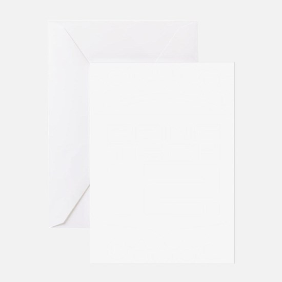 10x10 Center White Greeting Card