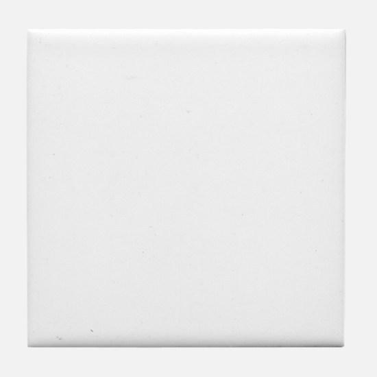10x10 Center White Tile Coaster