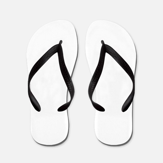 12x12 Plus Size White Flip Flops