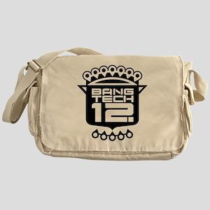 12x12 Plus Size Black Messenger Bag