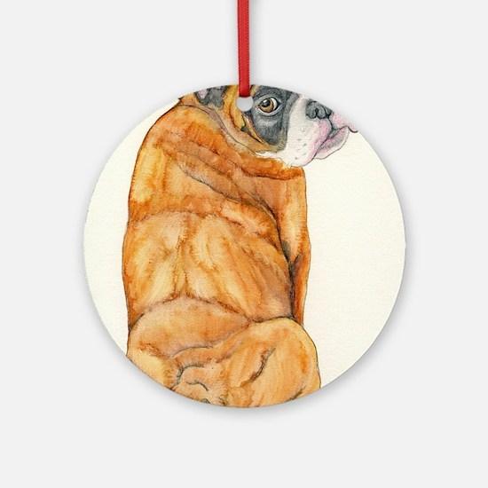 Old English Bulldog Round Ornament