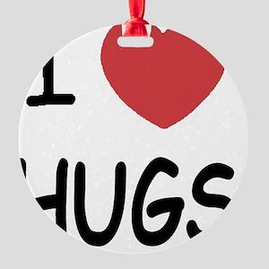 i-heart-HUGS01 Round Ornament