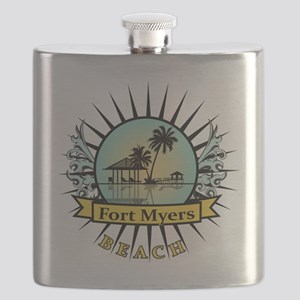 Fort-Myers-Beach-Hut Flask