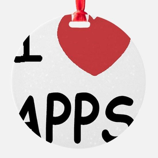 i-heart-APPS01 Ornament