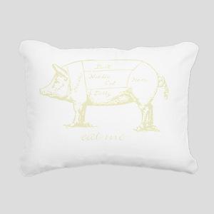 Eat Me Pork Light Rectangular Canvas Pillow