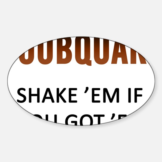 Boobquake Sticker (Oval)