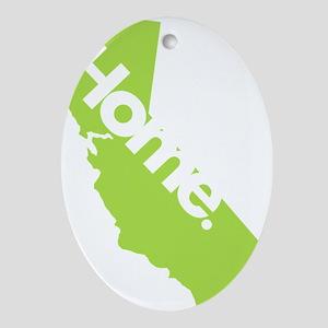 California-Home Oval Ornament