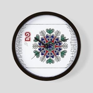 1977 Bulgaria Holiday Snowflake Postage Stamp Wall