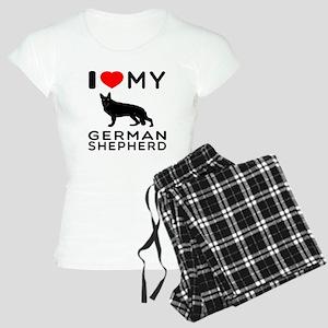 I Love My German Shepherd Women's Light Pajamas