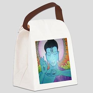Blue Buddha Canvas Lunch Bag