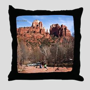 CathR1covsm Throw Pillow