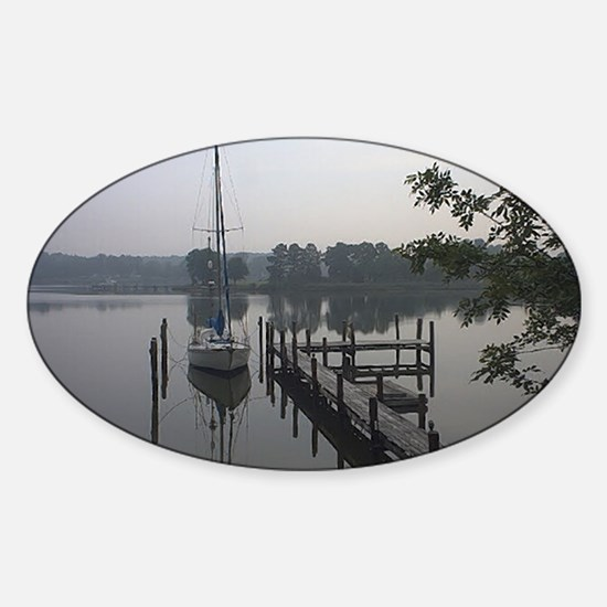 eastern-shore_dock_1_post Sticker (Oval)