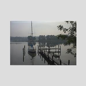 eastern-shore_dock_1_post Rectangle Magnet