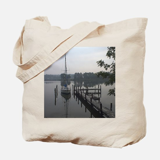 eastern-shore_dock_1_post Tote Bag