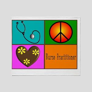 Nurse Practitioner Throw Blanket