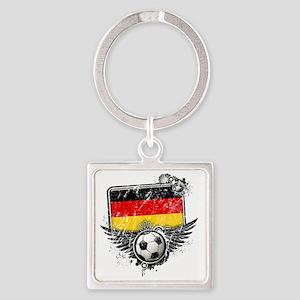 Soccer fan Germany Square Keychain