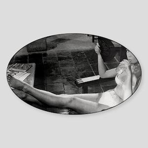Deathproof Black White Sticker (Oval)