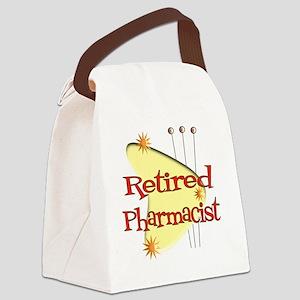 Retired Pharmacist RETRO YELLOW B Canvas Lunch Bag