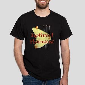 Retired Pharmacist RETRO YELLOW BOOME Dark T-Shirt