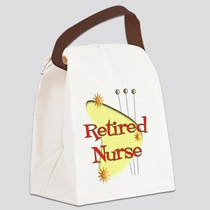 Retired Nurse Retro Canvas Lunch Bag
