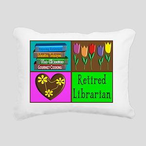 Retired Librarian Rectangular Canvas Pillow