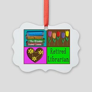 Retired Librarian Picture Ornament