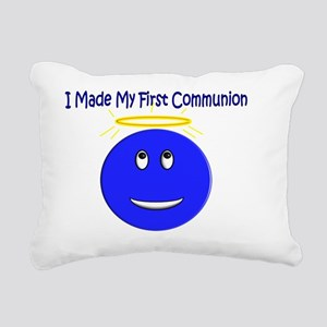 First Communion Smiley Rectangular Canvas Pillow
