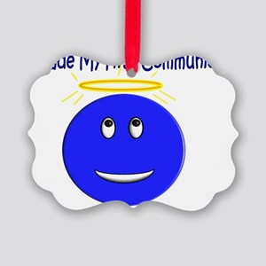 First Communion Smiley Picture Ornament
