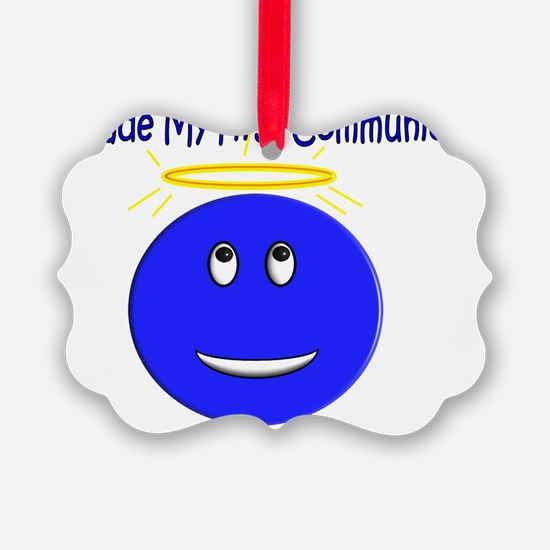 First Communion Smiley Ornament