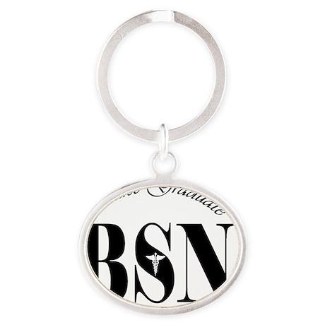 BSN-grad-z Oval Keychain