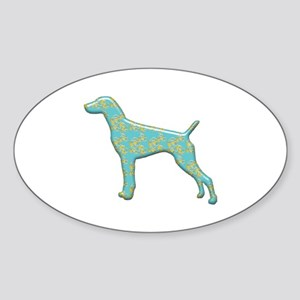 Paisley Pointer Oval Sticker