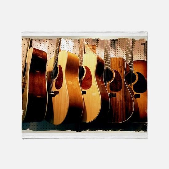 Guitars Throw Blanket