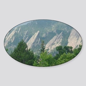 flatirons_200706_mouse Sticker (Oval)