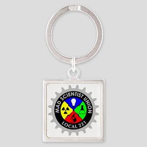 mad_scientist_union_logo_dark Square Keychain