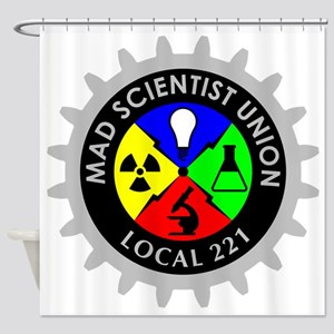 mad_scientist_union_logo_dark Shower Curtain