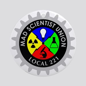 mad_scientist_union_logo_dark Round Ornament